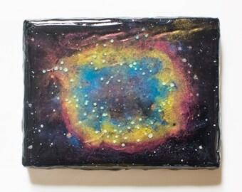 Mini Canvas Glow-in-the-Dark Nebula Painting
