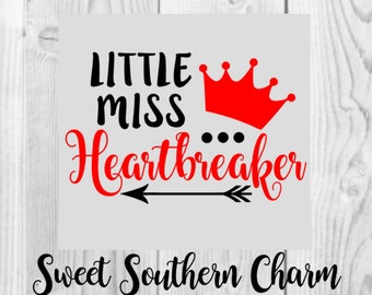 little miss heartbreaker svg - heartbreaker svg - heart svg - little miss svg - little girls svg - valentine svg - valentines svg  - svg