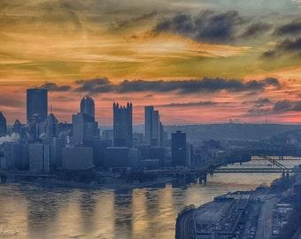 Pittsburgh Sunrise 13 x 19 Gloss Photo