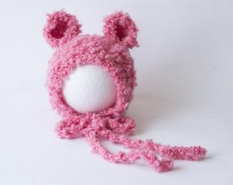Newborn Knit Hat - Newborn Hat - Newborn Photo Prop - Knit Baby Hat - Hand Knit Hat - Baby Gift - Knitting