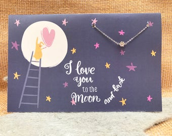 I love you to the moon and back (FREE SHIPPING)