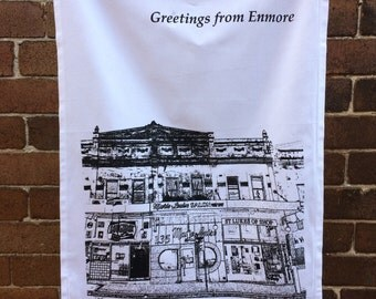 Marie-Louise Salon - organic cotton teatowel/Enmore/Sydney/Australia