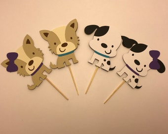 Puppy Cupcake Toppers< Birthday Cupcake Toppers
