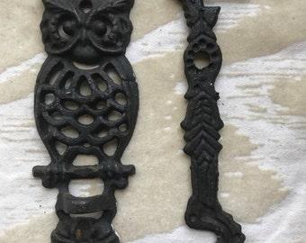 Vintage Owl Wall Hook, Rustic Owl Plant Hanger