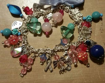 Chunky charm bracelet-charms-dangle **PLEASE READ DESCRIPTION**