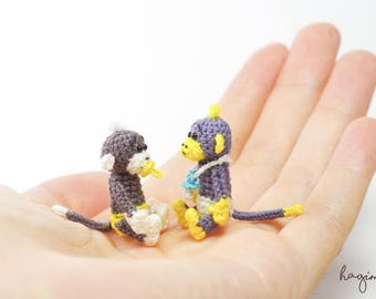 Tiny Monkey, Miniature Monkey, Tiny crochet monkey, amigurumi animals