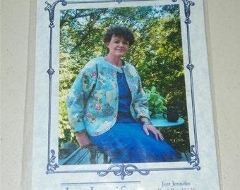 Vintage Quilted Fleece Jacket Pattern Just Jennifer 12777 UNCUT