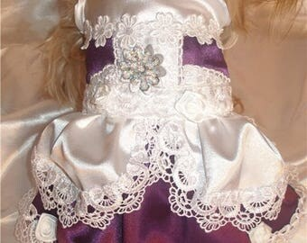 Luxury Designer dog clothes,Lilak dog dress. dog dress, puppy dress, dog wedding dress, Fancy Dog Dress, Pet Clothing,Dog Clothingg Dress