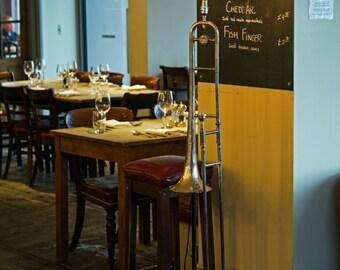 Trombone Floor standing Lamp