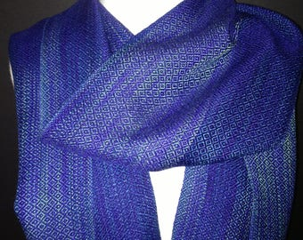Custom order Sophisticated fashion scarf, tencel, handwoven