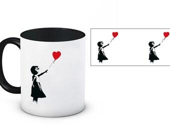 Banksy Inspired 11oz Ceramic Mug