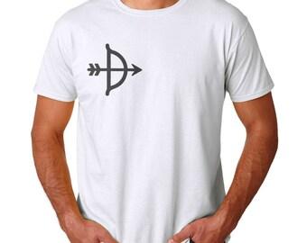 Bow In The Heart Men's White T-shirt