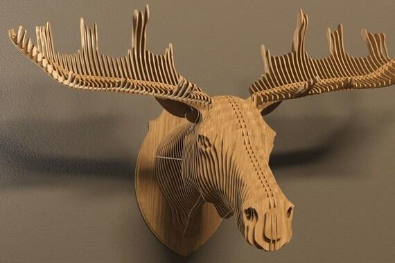 elk head 3d puzzle animals cnc decoration decorative. Black Bedroom Furniture Sets. Home Design Ideas