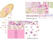 Hibiscus & Hummingbirds Mini Happy Planner Weekly Spread