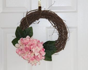 Spring Grapevine Hydrangea Wreath