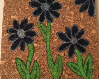 Flower Cork Coasters