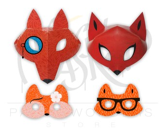 Fox masks set. Fox mask. Fox masquerade mask. Couple masquerade masks. Kids mask. Kids masquerade mask. Fox party favors. Fox costume mask.
