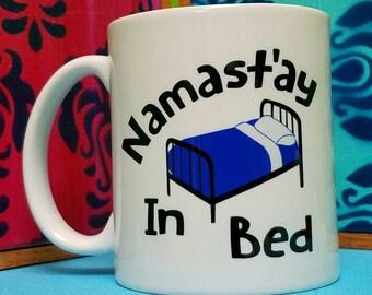 Namast'ay in Bed Mug