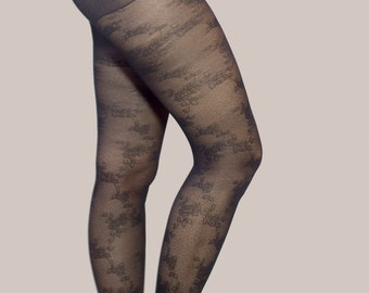 Womens tights//Sexy tights//Flower tights//Flower Hosiery//Floral Hosiery//Floral tights