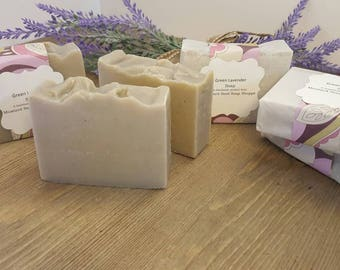 Green Lavender soap Handmade cold process soap
