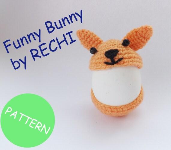 Amigurumi Bunny Pencil Holder : Items similar to easter bunny crochet pattern egg holder
