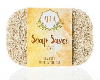 Aira Soap Saver. BPA Free Soap Lift Recyclable Soap Dish Bathroom Accessory for the Tub, Shower, Counter. Made in the USA