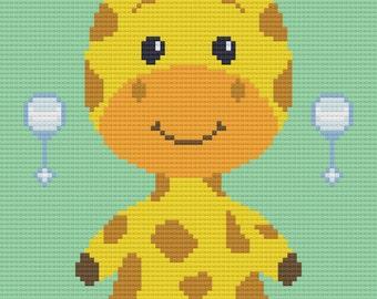 Giraffe C2C Crochet Afghan Blanket Pattern