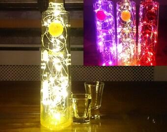 Ciroc Pineapple Vodka Bottle Light. Upcycled Bottle Lamp. Perfect Mood Lighting Gift For Women & Boyfriend Gift For Men. Upcycled Lighting