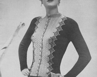 1940s Classic Fair Isle Cardigan