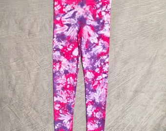 Tie Dye Leggings , Womens Small , Purple Tye Dye Leggings , Pink Scrunch Dye , Fun Leggings , Womens Tye Dye , Cute Yoga Pants , RA0317125