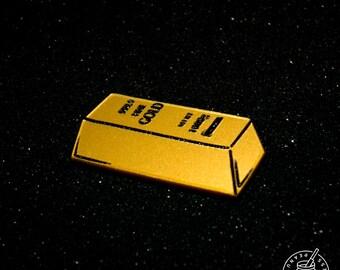 Gold Bar/Brick - Pin Badge