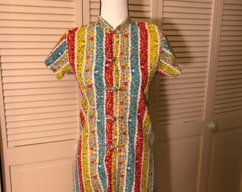 Vintage Oriental Inspired Dress Size Small