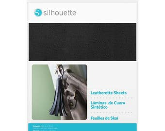 "Silhouette 8.5"" x 11"" Leatherette Sheets, Leather Embellishments, Silhouette Cameo, Portrait, and Curio, 3 sheets - black, cream, gold"