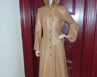 Vintage Fur Hoodie Coat