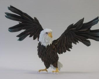 Eagle, eagle figurine, statue of eagle, bird of prey, eagle sculpture