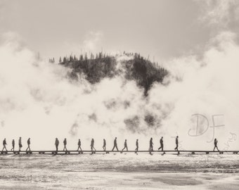Midway Geyser Basin, Grand Prismatic Spring, Yellowstone National Park, Yellowstone Photography, Travel Photography, Large Wall Art Print