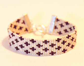 Woven in Miyuki seed beads bracelet