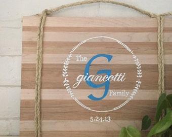 Wooden Custom Family Monogram Sign