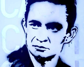 Original - Johnny Cash graffiti art