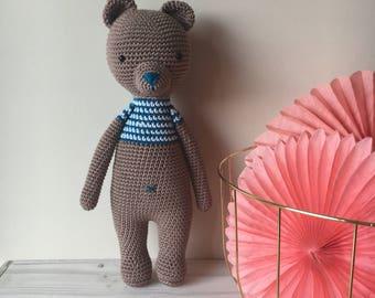 Crochet Bear Amigurumi- Handmade Crochet Amigurumi Toy Doll- Bear Crochet -Amigurumi Bear
