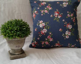 16in. Floral pillow slipcover