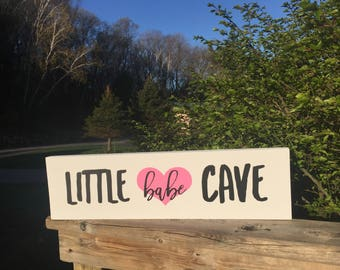 Little Babe Cave sign