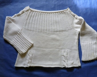 White cotton sweater