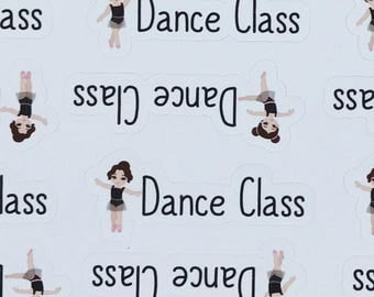 Dance Class Ballet Jazz Tap Vinyl Sticker Functional Planner