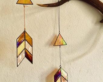 Arrow catcher, stained glass, Sun / Sun-Catcher glass, arrow