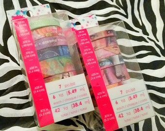 L2 pk Bundle Set by Jane Davenport Designs : 2 (7 pc.) Washi Tape Sets by Jane Davenport Designs ~Faces and Fantasies~