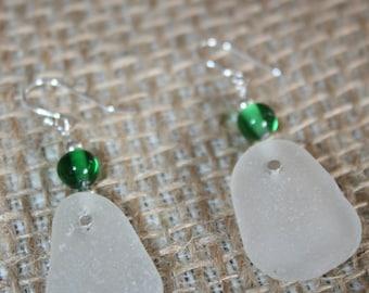 Sea Glass Crystal Earrings