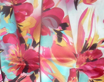 """Charmuse Satin Polyester  Apparel Craft Fabric 58""""-60"""" Wide By The Yard"""