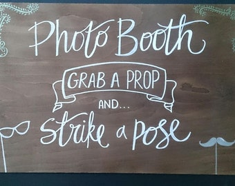 Handmade Wedding Photo Booth Sign
