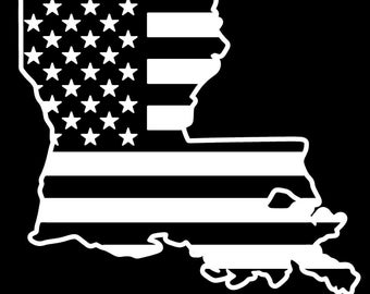 Lousiana American flag pledge of allegiance vinyl truck window sticker decal